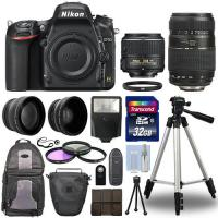 Buy cheap Nikon D750 Digital SLR Camera + 4 Lens Kit: 18-55mm VR + 70-300 mm + 32GB Kit from wholesalers