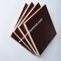 Buy cheap Linyi china factory cheap price laminated waterproof board manufacturer 14mm 18mm film faced plywood from wholesalers