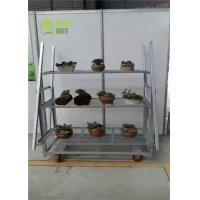 Buy cheap Garden Center Dutch Flower Trolley / Flower Display Trolley Racks 1350*565*1900 from wholesalers