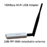 Quality Outdoor 1T1R Mode 802.11N 300Mbps rp-sma antenna  with USB adaptor GWF-1B1T   for sale