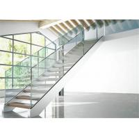 Buy cheap Indoor Stair Frameless Glass Railing U Channel Aluminium Alloy Material from wholesalers