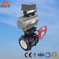 China Pneumatic Ceramic Floating Ball Valve with Override (GQS641TC) on sale