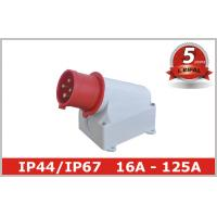 Buy cheap Single Phase 32A IP44 Industrial Plugs / Industrial Power Sockets from wholesalers