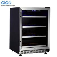 Buy cheap 52 Bottles Temperature Controlled Wine Fridge Stainless Steel Door from wholesalers