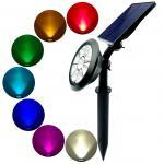 Buy cheap Outdoor Solar LED Garden Light spotlights adjustable angle from wholesalers