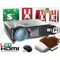 Buy cheap Full HD Video LED Projector Android/Wifi wireless HDMI USB for home theater 3D Cinema from wholesalers