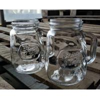 Buy cheap 350ml Glass Storage Jars / Customized Glass Mason Jars With Lid from wholesalers