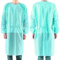 Buy cheap Green Color Disposable Isolation Gown , Hospital Disposable Protective Gowns product