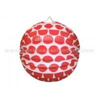 Dots Printing Colourful Circle Paper Lantern Decorations 10 inch 18 inch 20 inch