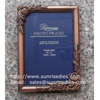 Buy cheap Metal rose picture frames in stock, emboss rose metal photo frames wholesaler in China from wholesalers