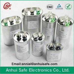 China CBB65 3~120uF Metallized BOPP Film Capacitor BOPP capacitor cbb65 cbb65 40 MFD X 370 Volts Round manufacturer on sale