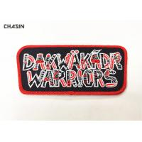 Buy cheap 2.5 Tall Brand Name Iron On Embroidery Patches For Hats Fashionable from wholesalers