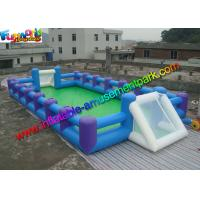 Buy cheap Human Table Soapy Inflatable Soccer Field Football Court Arena 16m X 8m from wholesalers