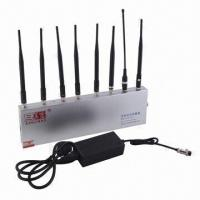 Buy cheap Mobile Phone Signal Jammer   with 8 Omnidirectional Antennas and Effective Radius of 60m product