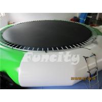 Buy cheap 0.9mm PVC Tarpaulin Inflatable Water Trampoline For Amusement Water Park from wholesalers