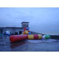 Buy cheap Large Inflatable Water Sports , Aquapark Platinum Rebound Bouncer With I-Log And Slide from wholesalers