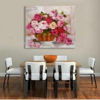 Buy cheap Handmade Abstract Floral Oil Painting Roses by knife for Home Decoration from wholesalers