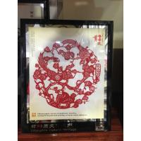 Buy cheap Chinese style handicraft gift paper-cut window flower paper-cut figure Facebook business gift from wholesalers