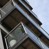 Buy cheap flat polished edges clear SGP laminated safety glass for apartment buildings from wholesalers