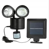 Buy cheap Activated dual head 22 LED security spotlight solar powered motion sensor night wall light for outdoor from wholesalers