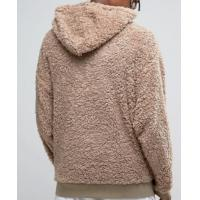 Buy cheap Oversize Xxxxl Plain Thick Heavyweight Sherpa Lined Hoodie Soft Touch Brown from wholesalers