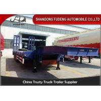 Buy cheap Mechanic Flatbed 4 Axles Steel 60T Low Bed Semi Trailer from wholesalers