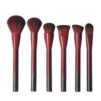 Buy cheap Wine Red Face Makeup Brush Kit , Loose Powder Contour Foundation Brush Set from wholesalers