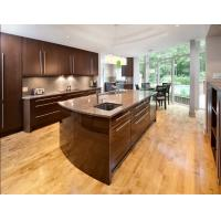 Buy cheap Luxury Customized Particle Board Kitchen Cabinets Lacquer Calacatta Quartz Countertops from wholesalers