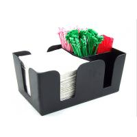 Buy cheap Solid Black Acrylic Tissue Box , Acrylic Dining Table Display Holder from wholesalers
