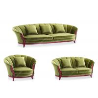 Buy cheap Modern Carved Green Living Room Sofa Set Kiln Dried Wood Frame High Desnity Foam from wholesalers