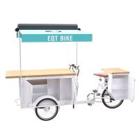 China Wooden Box Outdoor Electric Mobile Food Cart Thicker Frame With Large Storage on sale