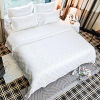 Buy cheap 100% cotton hotel and home luxury bedding sets white jacquard hotel cotton comforter set bed sheet from wholesalers