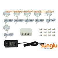 Buy cheap IP20 6 W LED Cabinet Lighting Kit For Hallway Stairs / 6 Pack Under Counter Puck Lights from wholesalers