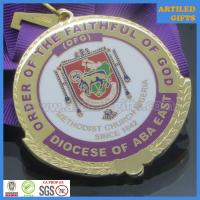 Buy cheap Enamel filled Order of the faithful of God Methodist church Nigeria gold medallion from wholesalers