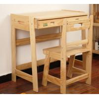 Buy cheap Wooden student furniture, classroom desk and chairs, children study desk and chairs from wholesalers
