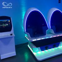 Buy cheap 3 Seats 9D VR Simulator 360 Egg Cinema VR Chair Arcade Game Machine from wholesalers