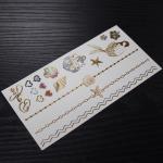 Buy cheap custom metallic gold jewel temporary tattoos from wholesalers