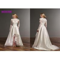 Buy cheap High Low Detached Female Wedding Dress Jude Lace Jacket Sweetheart Satin With Tulle from wholesalers