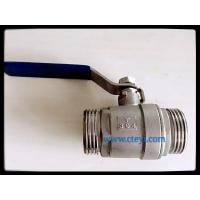 Buy cheap Male Thread Stainless Steel Ball Valves Manual Ball Valve Without Lock Hand from wholesalers