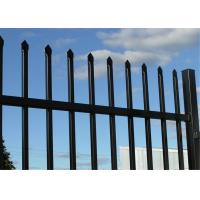 Buy cheap Blue Powder Coated 1.8mx2.4m Crimped Spear Garrison Fencing Panels tubular Steel Fence Customized Service from wholesalers