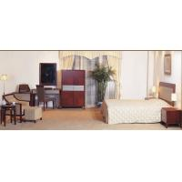 Buy cheap Hotel Standard room Furniture by Bedroom Sets wiht Cherry wood and Upholstered Headboard from wholesalers