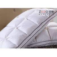 Buy cheap Durable Comfort Pillows Duck Down With Embroidery Logo 1100g Customize Size from wholesalers