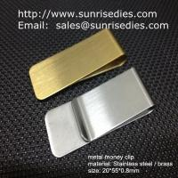 Buy cheap Classic cash money clip credit card holder, custom brushed brass cash money clips from wholesalers