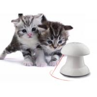 Buy cheap Automatic Rotating Cat Laser Toy In White Color With 4 Speed / Time Setting product