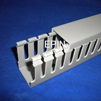 China EPIN grey pvc wiring duct with open slotted on sale