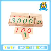 Buy cheap Montessori math materials,wooden toys,Large Wooden Number Cards With Box (1-3000) from wholesalers