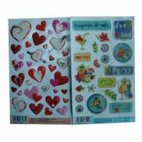 Buy cheap Crystal Epoxy Stickers, Non-toxic, Can be Used for Promotional and Advertisement, Gift for Children  from wholesalers