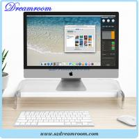 Buy cheap Clear Acrylic Computer Monitor TV Stand Riser with Keyboard Storage from wholesalers