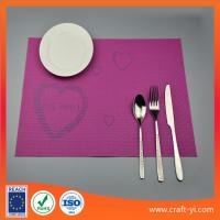 Buy cheap PVC square Placemats Insulation Mats Coasters Kitchen/Dining Tables mat from wholesalers