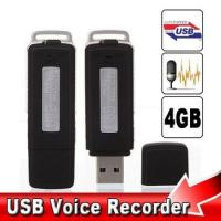 Buy cheap 2 in 1 Mini 4GB USB Pen Flash Drive Disk Digital Hide Audio Voice Recorder from wholesalers